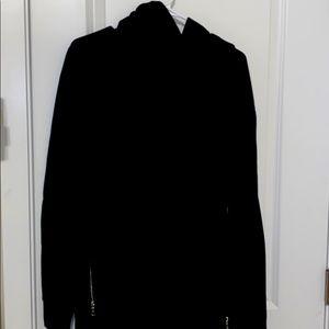 Nwot black villain hoodie chrome riri zippers Lrg